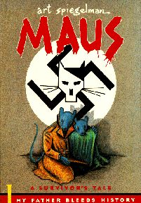 devastating account through comic style writing of personal events of holocaust
