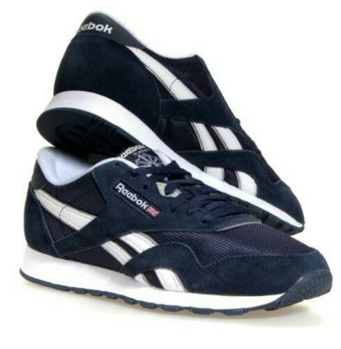 reebok classic blue and white reeboks