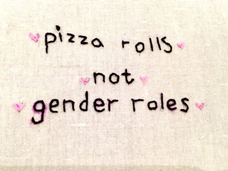embroidered - pizza rolls not gender roles