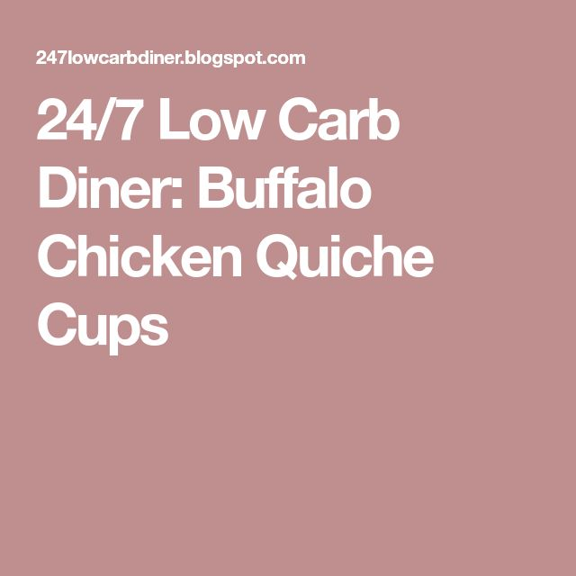 24/7 Low Carb Diner: Buffalo Chicken Quiche Cups
