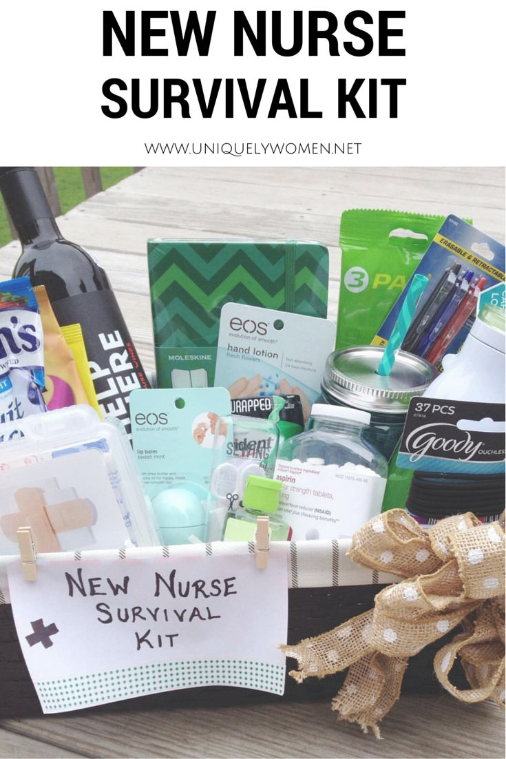 Nurse Graduation Gift DIY Gift Basket www.uniquelywomen.net
