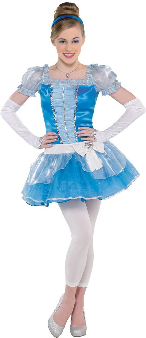 Teen Girls Cinderella Costume - Party City Like if u want me 2 be this for Halloween!