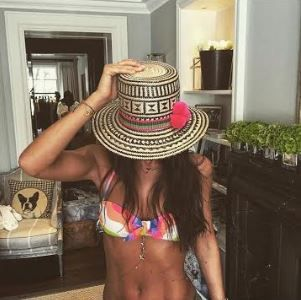 Lily Fortescue is getting beach ready with our Falling Star Body Chain