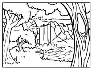 forest background coloring pages