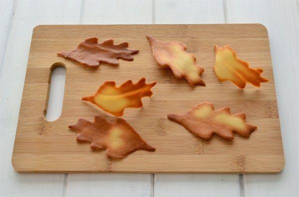 Tuile leaves cookies - Galletas teja con forma de hoja