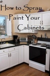 kuchenschranke fett entfernen : How to spray paint your cabinets - I far prefer this to using a brush ...