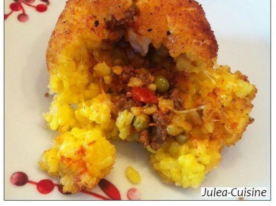 Arancini, boulettes de riz farcies siciliennes a faire en version bio