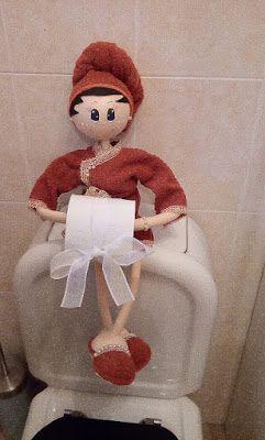 O Estaminé da Xé: Fofucha porta rolo papel higienico