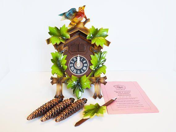 Vintage West German Musical Cuckoo Clock  New in Box Never