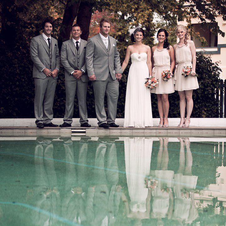 Around the pool pics - vintage bridesmaids