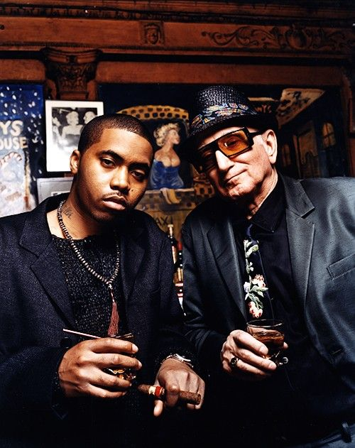 Nas & Dominic Chianese aka Uncle Junior Soprano captured by famed Hip Hop photog Jonathon Mannio