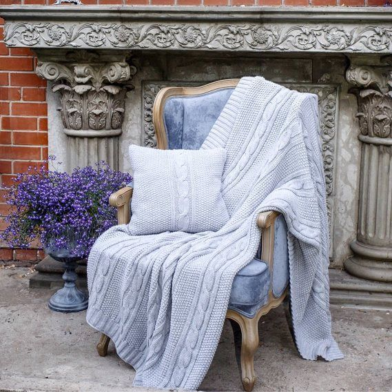 THE BLANKET IS KNITTED WOOL UNISEX FOR HOME WOOL #AIM #ArtDecoStyle