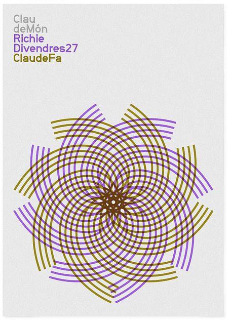 Claude Món dj poster by MARIN DSGN, via Flickr