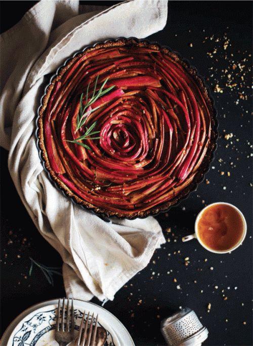 Rhubarb rosemary tart | Dessert | Pinterest