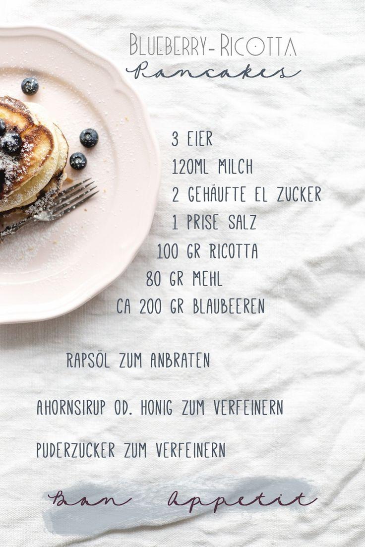 Blaubeeren mit Ricotta Pancakes. Ein Rezept auf Wiener Wohnsinn