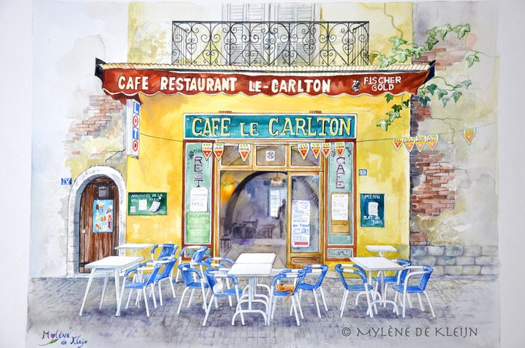 Small cafe in France.