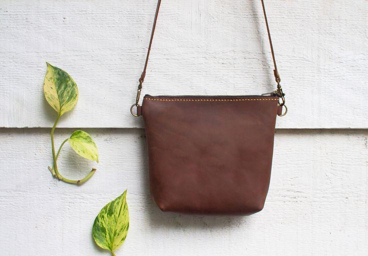 Leather Cross body Purse, Handmade Leather Messenger Bag, Brown Leather Bag, Unisex Leather Bag, Cross body Bag, Travel Bag, Handmade Bag