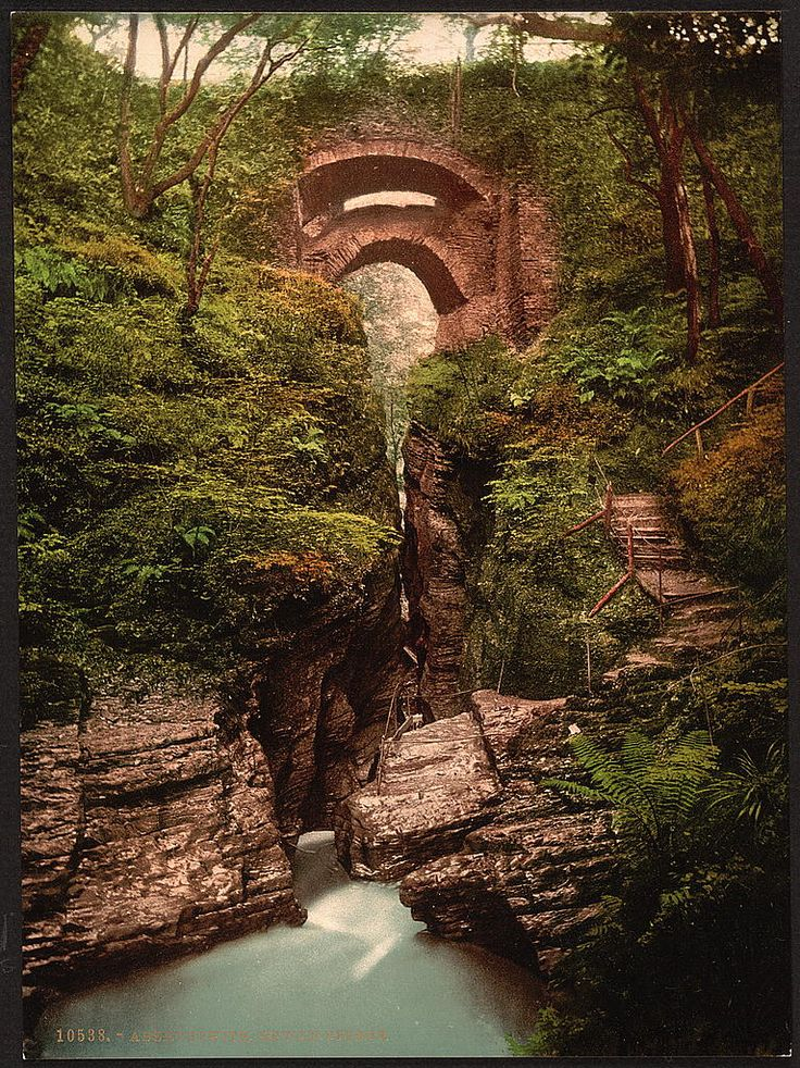Looks more like an Angels bridge to me: Devil's Bridge, Aberystwith, Wales