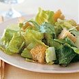 Caesar Salad with Homemade Croutons and Balsamic Dressing Recipe at Epicurious.com