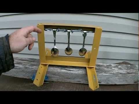 Homemade Airgun Spinner Target - YouTube