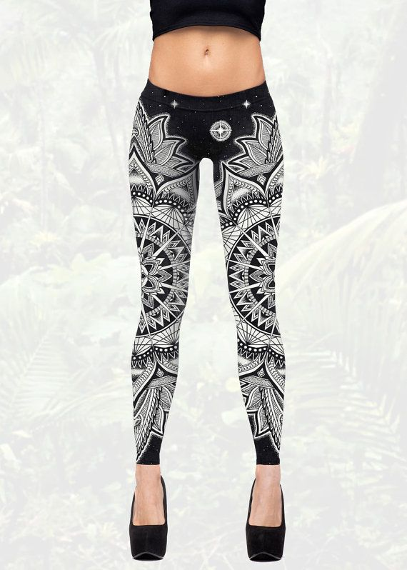 Kosmischen Mandala Leggings Yogahosen für von KorvinKustoms