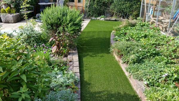 A great way to create a natural looking pathway through the garden.