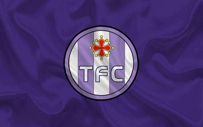 Lataa kuva Toulouse FC, Ranska, Football club, Ligue 1, jalkapallo, Toulouse-tunnus, logo, Violetti silkki