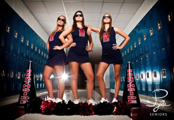 senior cheerleader or could be a normal pic with friends!