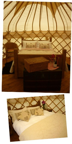 Secret Cloud House Holidays, Derbyshire - hillside yurts with feather beds & a log-fired hot tub ~ blissful