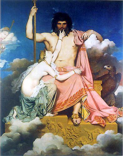 Jupiter et Thétis, Ingres