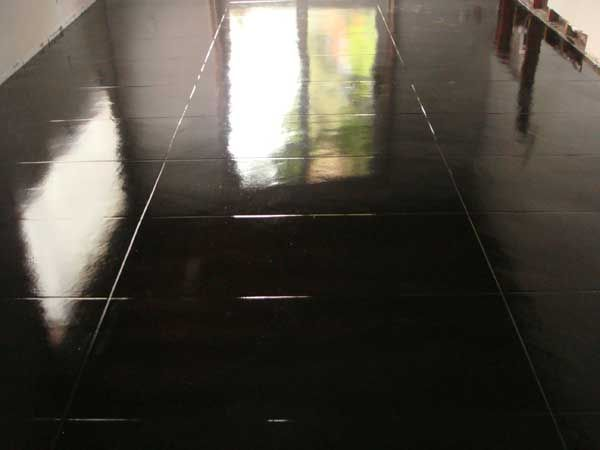 Black epoxy floor
