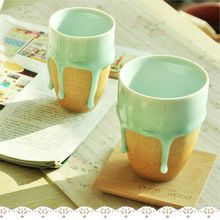 Ручной работы кистями кубок мой бутылка керамическая чашка подарок домой творческий котенок персонализированные drinkware новинка национального ветра горячая распродажа(China (Mainland))