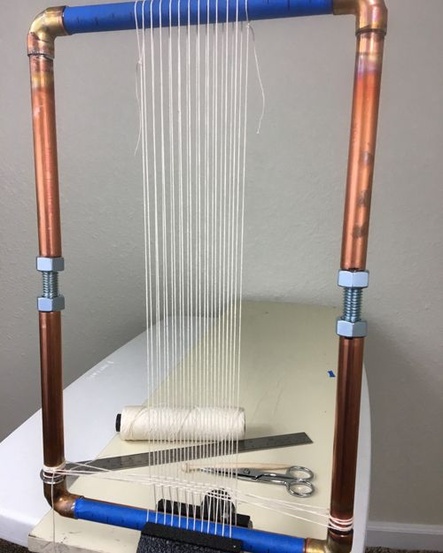 how to make your own small weaving loom