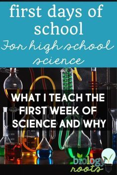 first day of school science high school first week of school science activities ideas