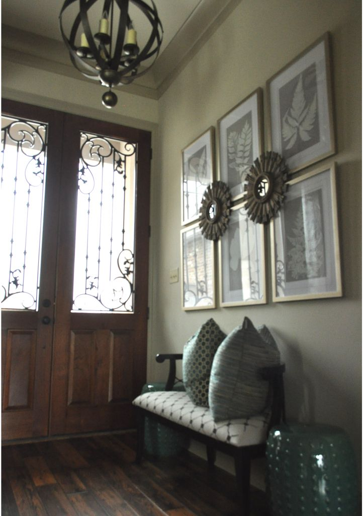Here's the reveal of the entry way of my dream home. Elegant, inviting and chic are the words my guests use to describe this room when they enter it!