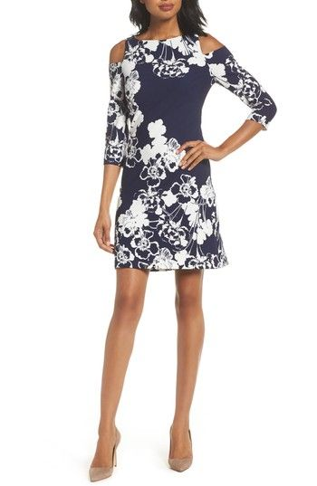 Free shipping and returns on Eliza J Cold Shoulder Shift Dress at Nordstrom.com. Flaunt your shoulders in this work-appropriate shift dress that stands out from the rest in a bright floral design.