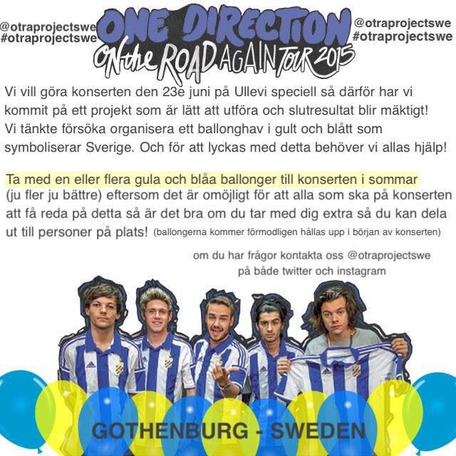 Projekt för One Directions konsert i Sverige !