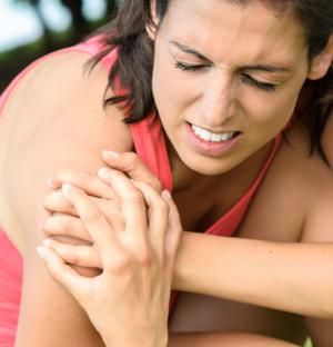 5 Simple Solutions to Shoulder Pain  Shoulder pain sucks. If you've been lifting for any significant amount of time, then you've likely felt it. Maybe it was just a little pinch in the front of your shoulder. Or maybe it felt like someone was trying to remove your biceps tendon with a soldering iron every time you went to push or press.