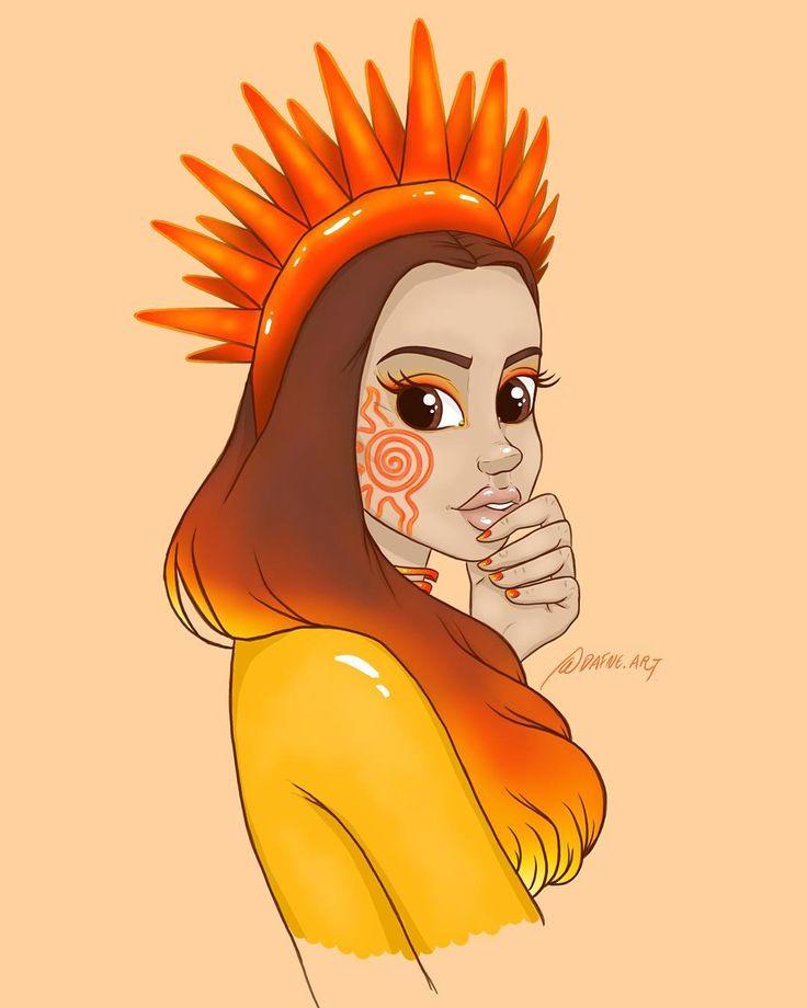 Dafne Sloth (@dafne.art) • Instagram-billeder og -videoer  sun queen art draw drawing character design