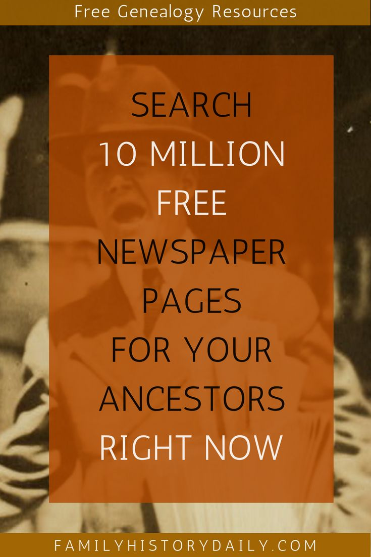 Old newspapers are one of the most valuable resources available to family history researchers.