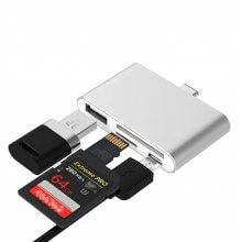TC41 Type C HUB SD/Micro SD Card Reader with USB Port