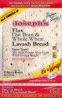 High Fiber Plus Pita Bread - Low Glycemic Food and Certified Diabetic Friendly | Joseph's Bakery