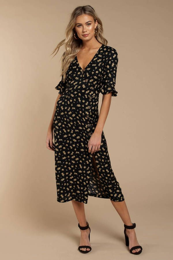 Looking for the Tori Navy Floral Print Midi Dress   6d4bf808403