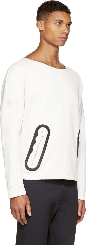 Kenzo Cream Padded-Trim Sweatshirt