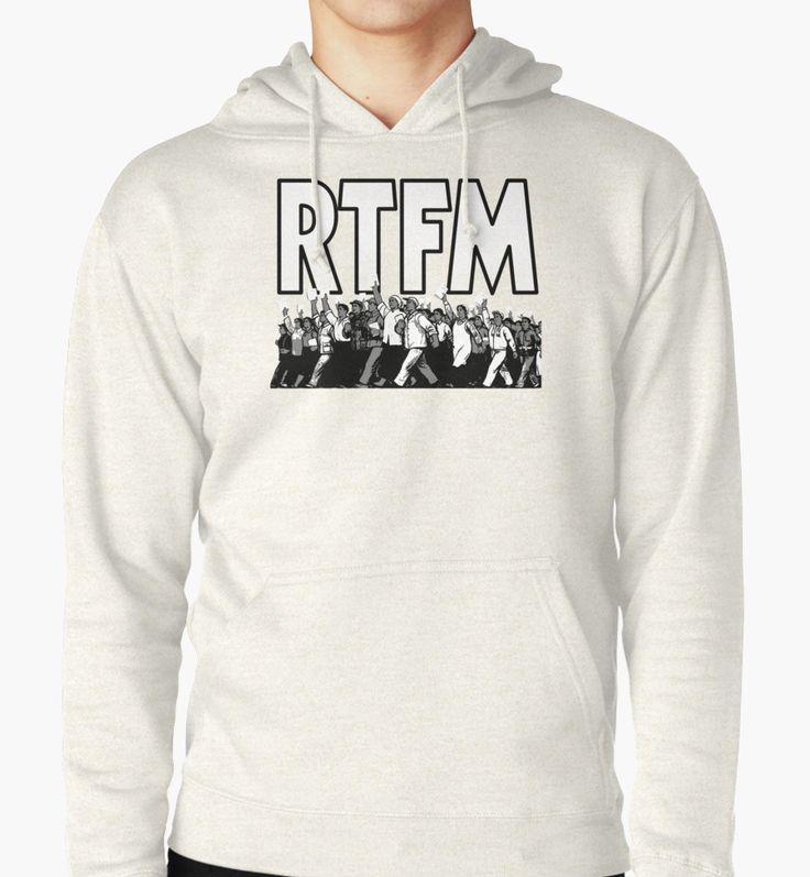 """RTFM2"" Hoodies by Federal Audio | Redbubble"
