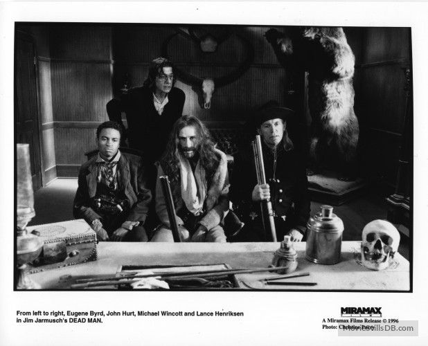 Dead Man - Publicity still of John Hurt, Eugene Byrd, Michael Wincott & Lance Henriksen