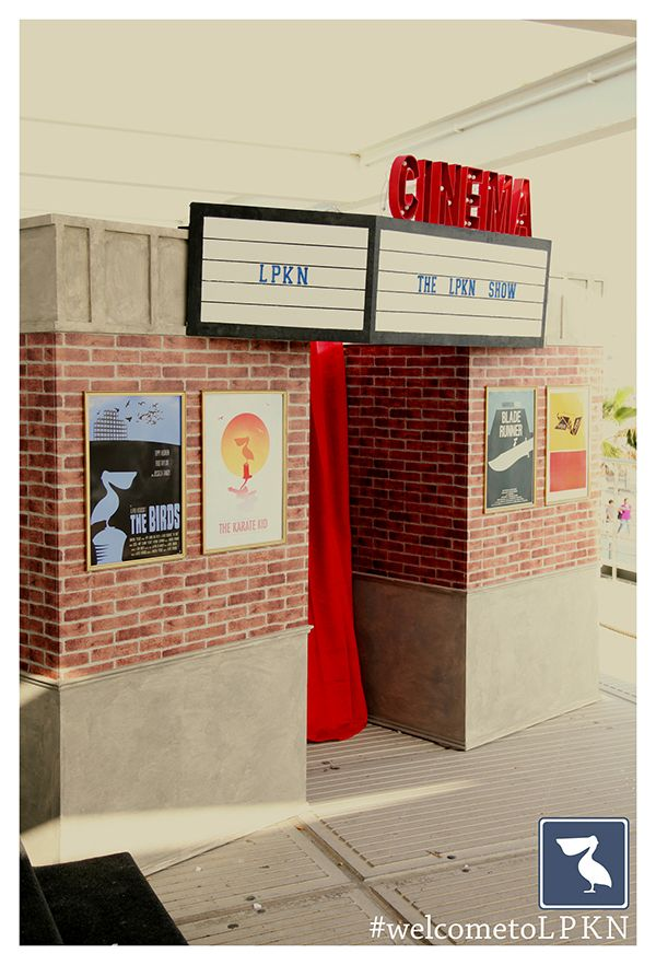 Old Cinema Photo Booth. Marquee and bulb letters.