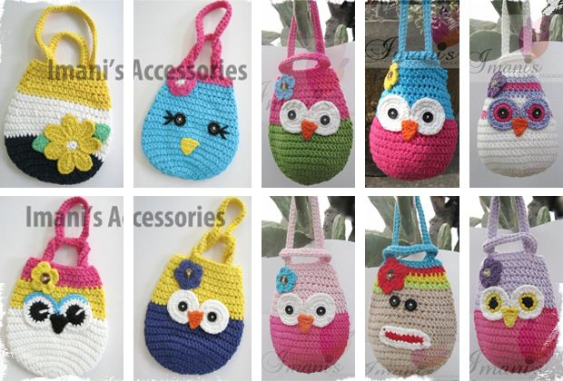 Adorable Crochet Wristlets - 10 Designs to Choose From! Offer expered but a very cute idea!!Little Girls Gift, Gift Bags, Crochet Bags, Cute Ideas, Owls Purses, Owls Bags, 10 Design, Adorable Crochet, Crochet Wristlets