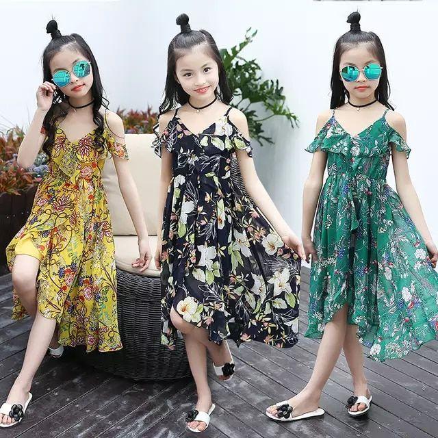 2019 vestidos para chicas niñas niños floral ropa verano casual de moda playa