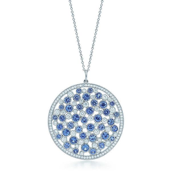 Tiffany Cobblestone Medallion Pendant ($14,000) via Polyvore featuring jewelry, pendants, necklaces, chains jewelry, medallion pendant, charm pendant, tiffany co jewelry and round pendant